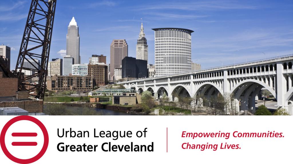 Photo of Cleveland skyline with Urban League logo