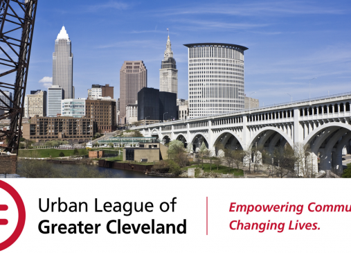 Photo of Cleveland skyline with Urban League logo