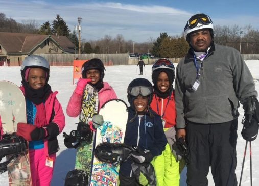 A SYATT group hits the slopes