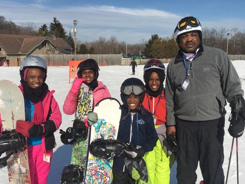 A SYATT group hits the slopes