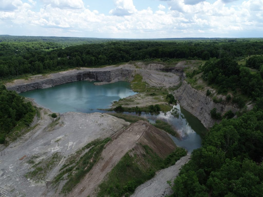 Aerial view of haydite mine