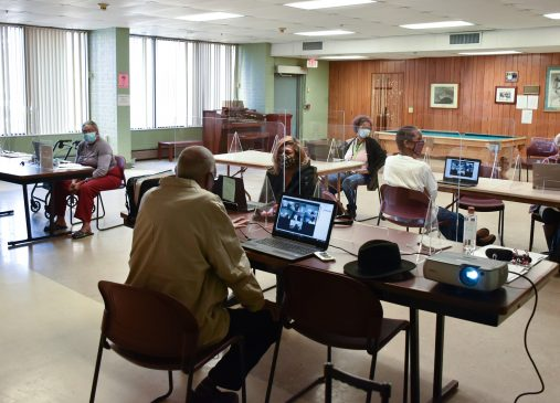 Residents attend a technology class at ASC3